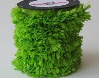 Handmade Crepe Grass Green Fringe
