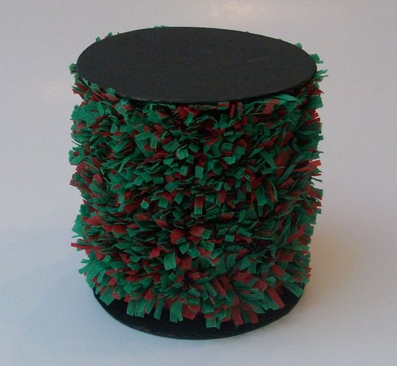 Handmade Red and Green Crepe Fringe