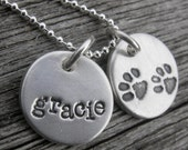 RESERVED for Patty G - Personalized Pet Lover Necklace