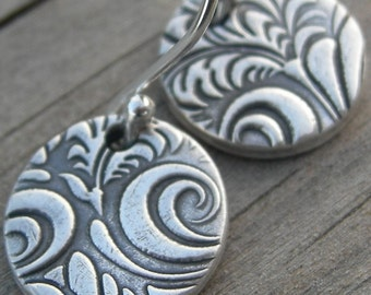 Favorite Companion Earrings Silver PMC jewelry