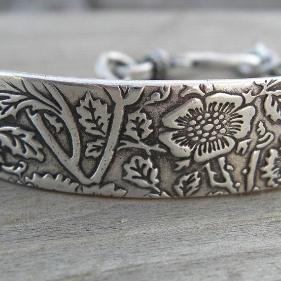 Super Secret ID Bracelet Personalized Made To Order Sterling