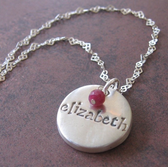 Personalized Small Disk Pendant
