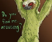 Seductive Three-Toed Sloth digital print