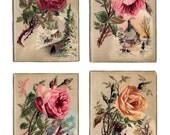 Victorian Rose Card 4 Pc. Set, Scrapbook
