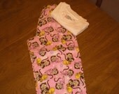 pink monkey and rubber ducky jammies