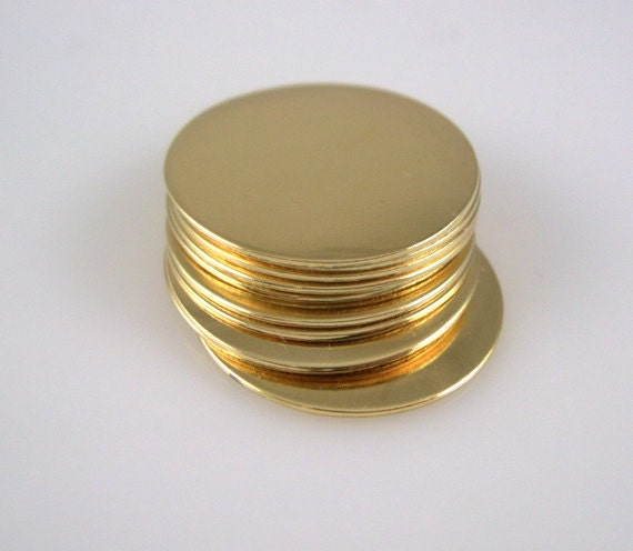 Round Brass Engraving Disc