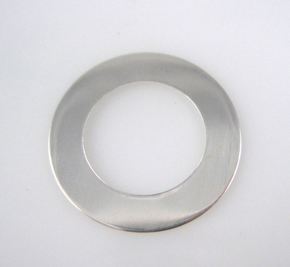 Sterling Silver Washer 1 Inch 24 Gauge 25mm Round NEW  Hand Stamping Supplies Link Blank Finished Smooth Engraving Jewelry Making  QTY 3