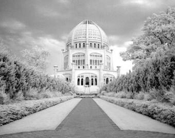 Bahai Temple in Wilmette Illinois- 8x12 Fine Art Infrared Photograph