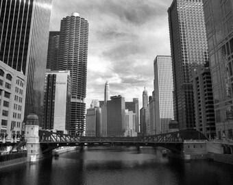 Chicago River - 8x12 Fine Art Infrared Photograph