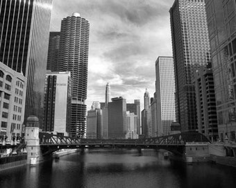 Chicago River - 8x12 Fine Art Infrared Photograph