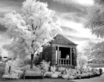 English Walled Garden - 8x12 Fine Art Infrared Photograph