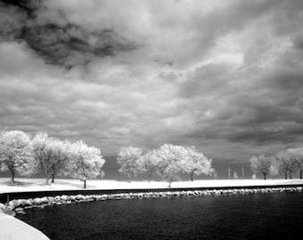 Belmont Harbor in Chicago - 8x12 Fine Art Infrared Photograph