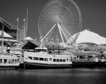 Navy Pier in Chicago - 8x12 Fine Art Infrared Photograph