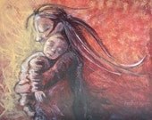 Give and Receive - 8x10 signed motherhood print from an acrylic painting by Katie m. Berggren