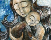 Drawn To You - Archival 8x10 signed motherhood print from an original painting by Katie m. Berggren