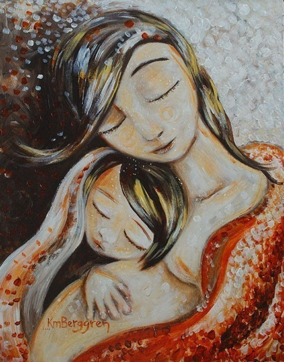 mother and child pregnancy art print Tiny Moment archival