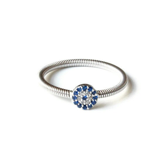 925 sterling silver swarovski evil eye ring by petracollection