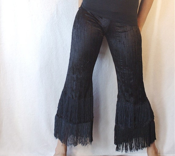 Sequins And Spin Flapper Fringe Pants