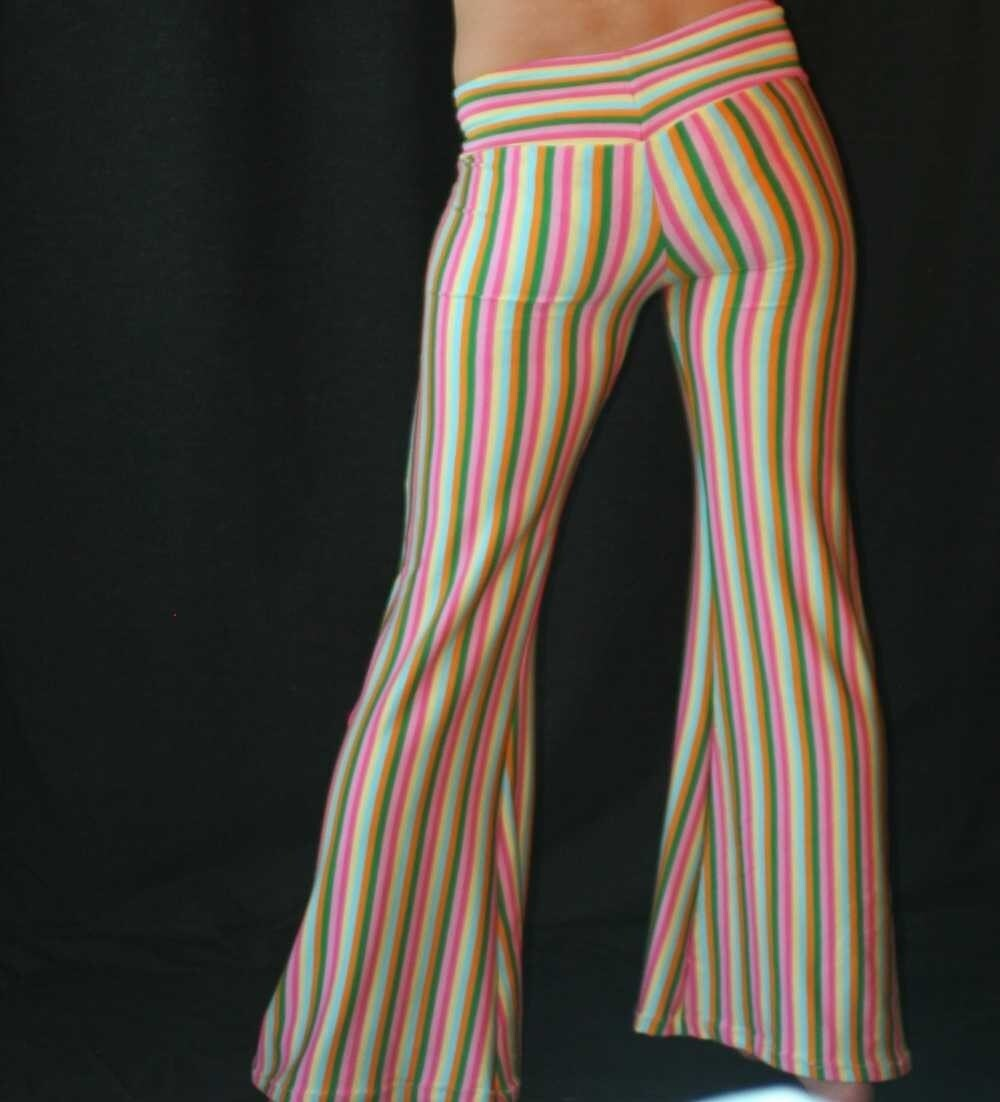 Rainbow Striped Circus Pants Hipster Style