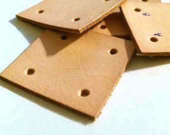 Leather Card Weaving Cards - 1 3/4 inches square - 5 cards
