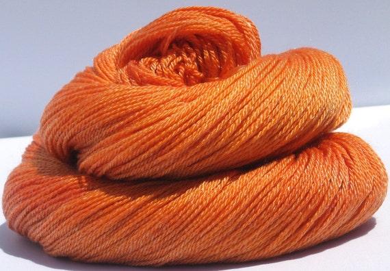 Handpainted Courtly Sock Yarn - Superwash Merino Wool & Tencel - Pumpkin Juice