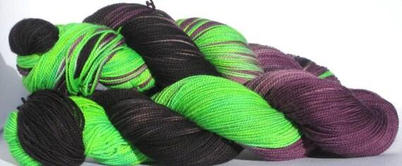 Handpainted Sock Yarn - 100% Fingering Weight Superwash Merino Wool - Winged Monkeys