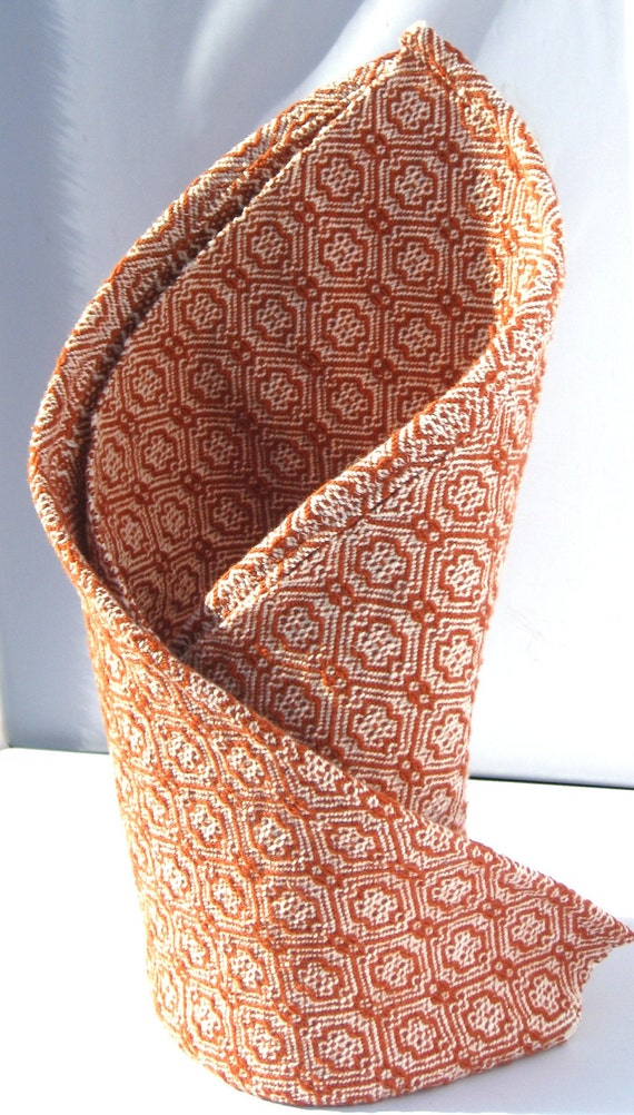 Handwoven kitchen towels - Stepping Stones Rust & Natural
