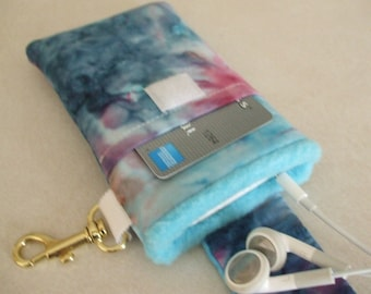 Smart Phone Case - Blue Batik w/ Blue Lining