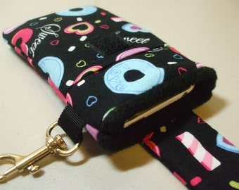 Smart Phone Case - Black Candy w/ Black Lining