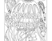 Mystical Menagerie Coloring Book Animals Digital Download