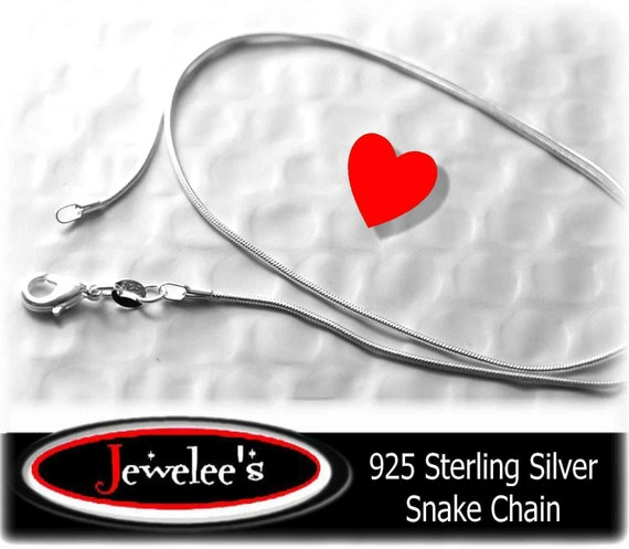 10 Piece 925 Sterling Silver SNAKE Chain Necklace 18 Inch WHOLESALE1 mm GORGEOUS