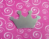 "5 Deburred 18G Aluminum 1 1/4"" inch X 13/16"" Princess / Prince Crown Stamping Blanks"
