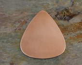 "10 Deburred 18G Copper 1 1/4"" inch X 1"" GUITAR PICK Stamping Blanks"