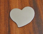 "10 Deburred 20G Nickel Silver 1"" inch X 1"" TILTED HEART Stamping Blanks"