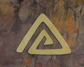 "5 Deburred 24G Brass 1 3/4"" inch X 1 3/8"" TRIANGLE SPIRAL Stamping Blanks"