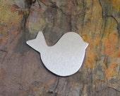 "5 Deburred  1 1/4"" inch X 1"" BIRD *Choose Your Metal* Aluminum Brass Bronze Copper Nickel Silver Stamping Blanks"
