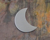 "10 Deburred 1 1/8"" CRESCENT MOON *Choose Your Metal* Aluminum Brass Bronze Copper Nickel Silver Shaped Stamping Blanks"