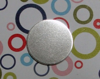 """20 Deburred 18G Aluminum 3/4"""" inch Stamping Blanks Discs"""