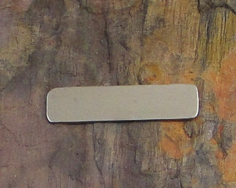 """10 Deburred 20G Nickel Silver 1/4"""" inch X 1"""" RECTANGLE Stamping Blanks"""