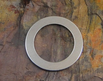 """10 Deburred 1 1/4"""" inch LARGE Washers with 7/8"""" hole *Choose Your Metal* Aluminum Brass Bronze Copper Nickel Silver Stamping Blanks"""