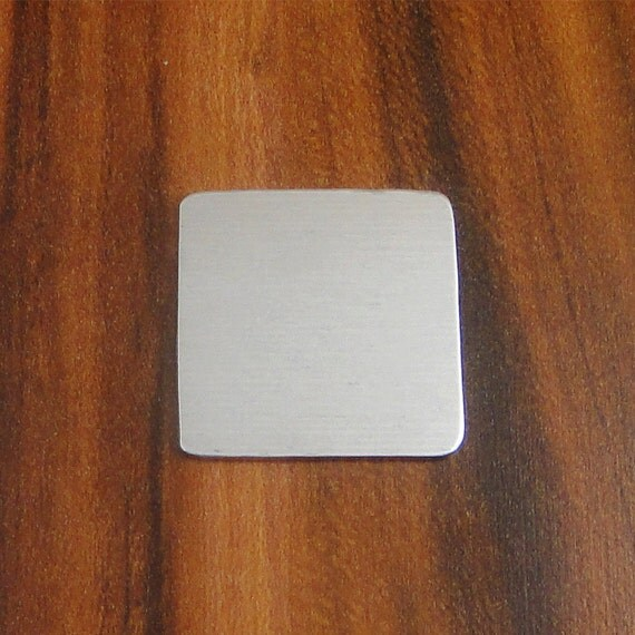 "5 Deburred 18G Aluminum 1"" inch X 1"" Rounded Corner SQUARE Shaped Stamping Blanks"