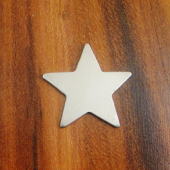 """10 Deburred 20G Nickel Silver 1 1/4"""" LARGE STAR Shaped Stamping Blanks"""