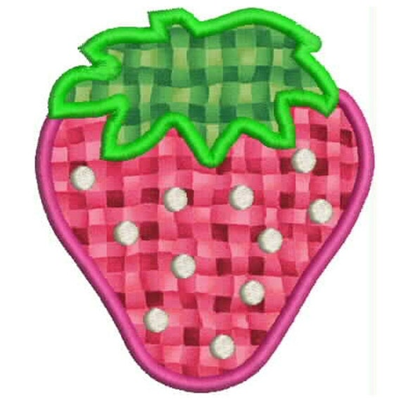 Machine Embroidery Designs Applique Strawberry summer BUY 2 GET 1 FREE
