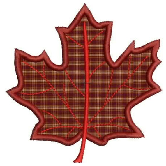 Machine embroidery designs applique maple leaf fall and