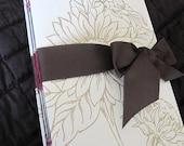 Gold Flower Guest Book