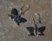 Butterfly Earrings - Custom Order for Dustdeepsea Only