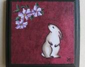 RESERVE LISTING for Jneelmort... Luck - Talisman Series No. 3 (Rabbit w\/Clematis)