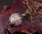 Royal Jewel Handmade Lampwork Bead Pendant Necklace