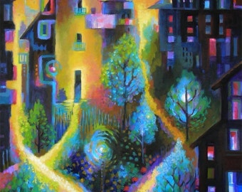 Magical Cityscape Print