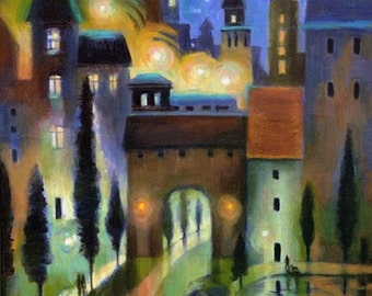 Magical Night Cityscape Print